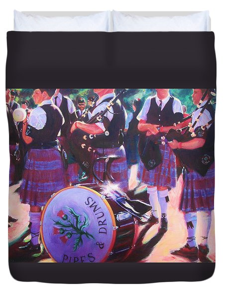 Pipes And Drums Duvet Cover