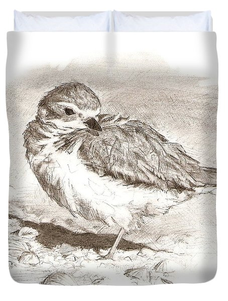 Piping Plover Duvet Cover