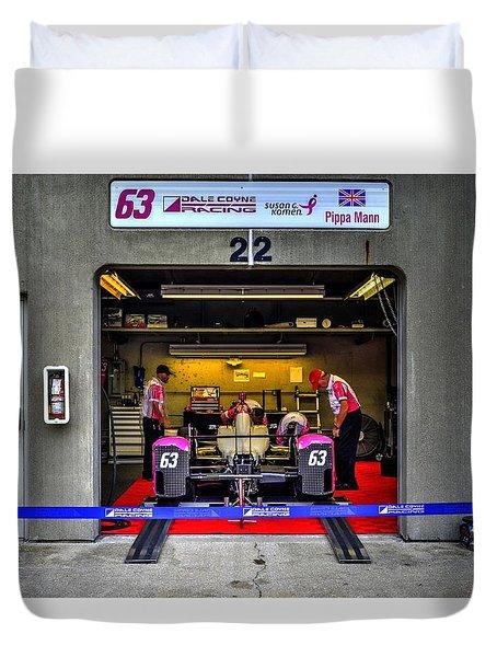 Pippa Mann Garage 2016 Duvet Cover