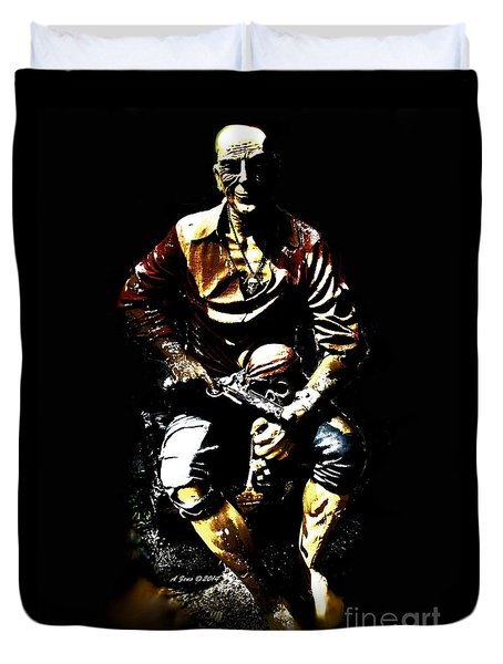 Pirate And Skull Duvet Cover by Annie Zeno