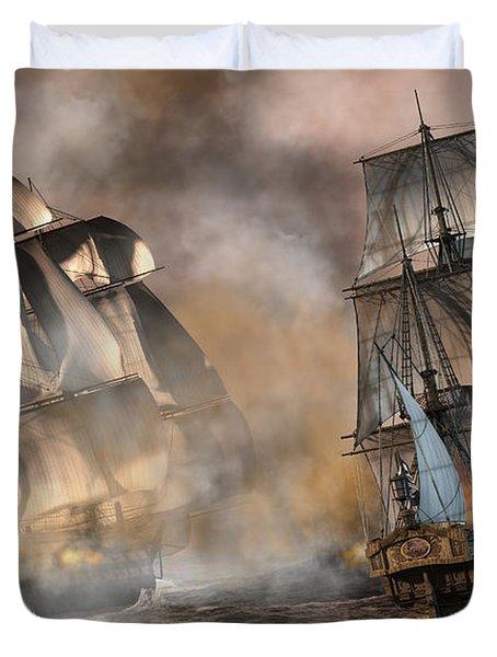 Pirate Battle Duvet Cover