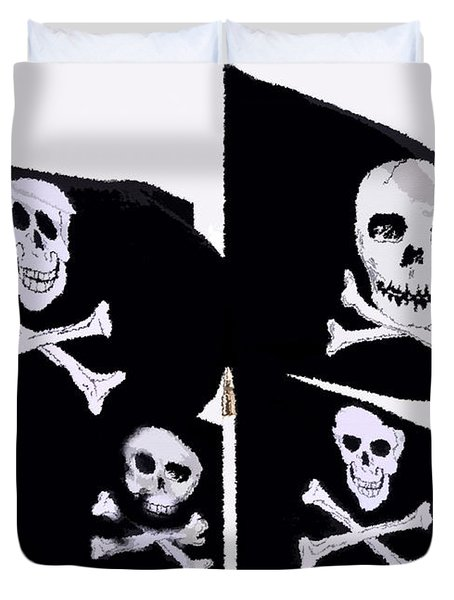 Pirate Flags Duvet Cover by David Lee Thompson