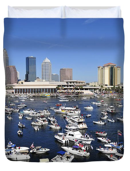 Pirate Invasion 2012 Duvet Cover by David Lee Thompson