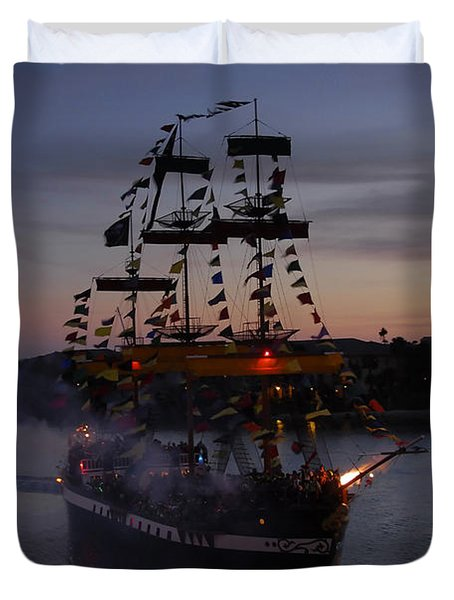 Pirate Invasion Duvet Cover by David Lee Thompson