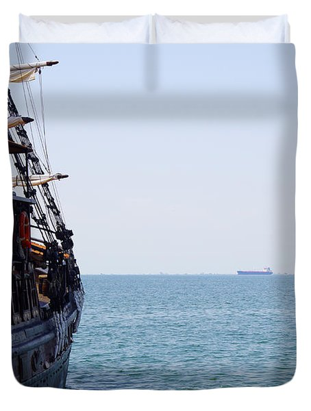 Pirate Ship Duvet Cover