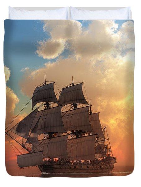 Pirate Sunset Duvet Cover