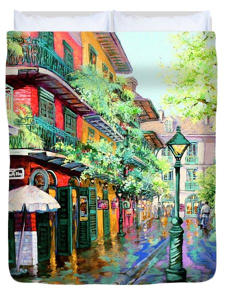 Pirates Alley - French Quarter Alley Duvet Cover