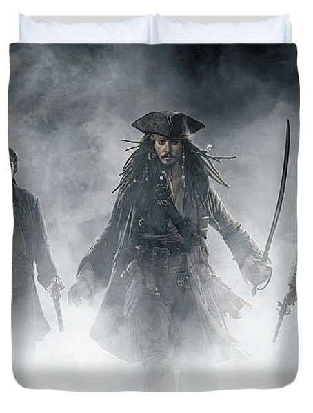 Pirates Of The Caribbean At World's End Duvet Cover