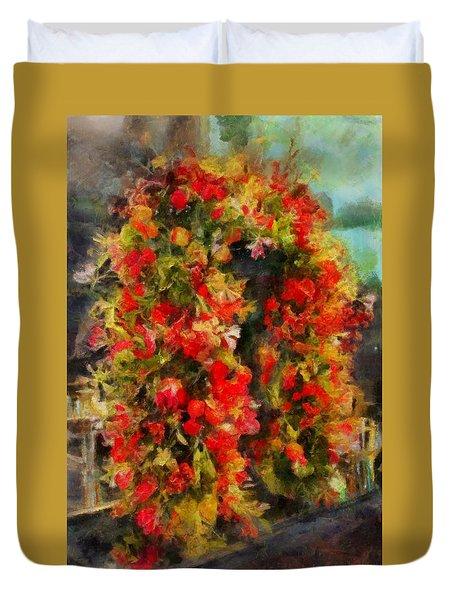 Pi's Flowers 2 Duvet Cover