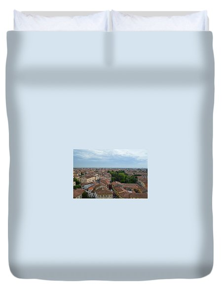 Pisa From Above Duvet Cover