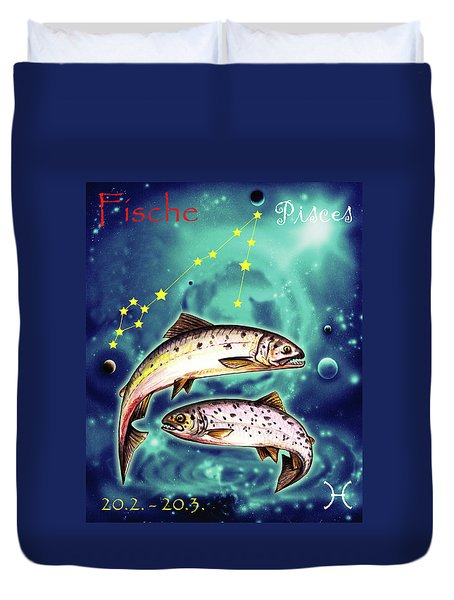 Pisces In The Sky Duvet Cover