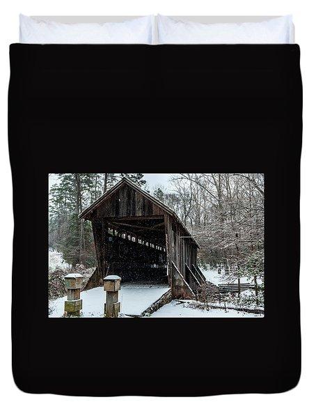 Pisgah Covered Bridge - Modern Duvet Cover