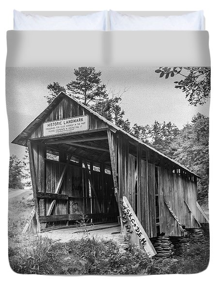 Pisgah Covered Bridge No. 1 Duvet Cover