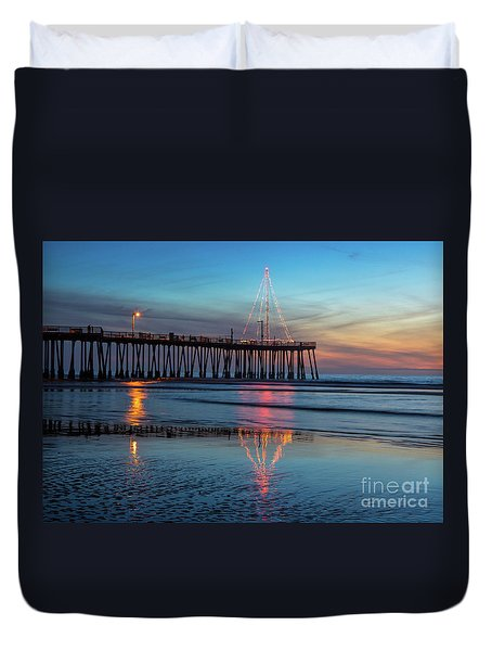 Pismo Pier Lights Duvet Cover