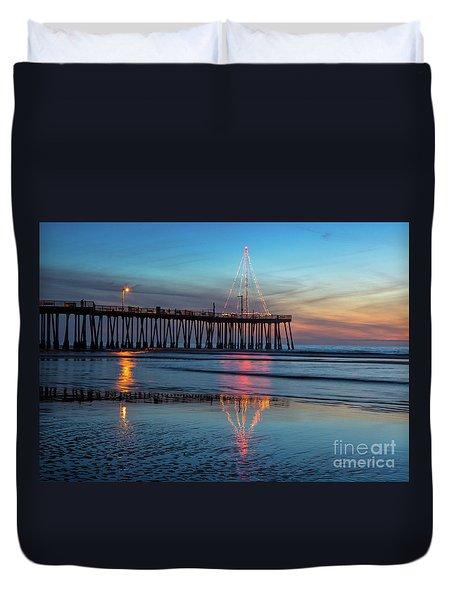 Pismo Pier Lights Duvet Cover