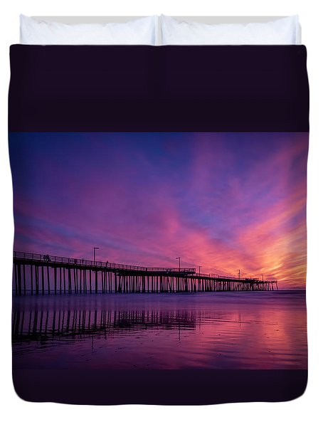 Duvet Cover featuring the photograph Pismo's Palette by Sean Foster