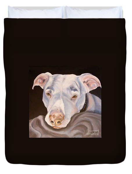 Pit Bull Lover Duvet Cover