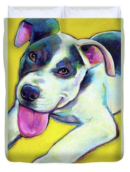 Pit Bull Puppy Duvet Cover