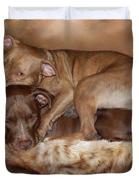 Pitbulls - The Softer Side Duvet Cover