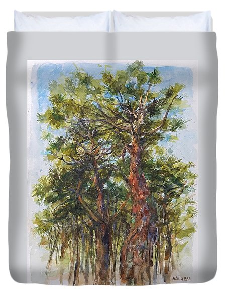 Pitch Pines, Cape Cod Duvet Cover by Peter Salwen