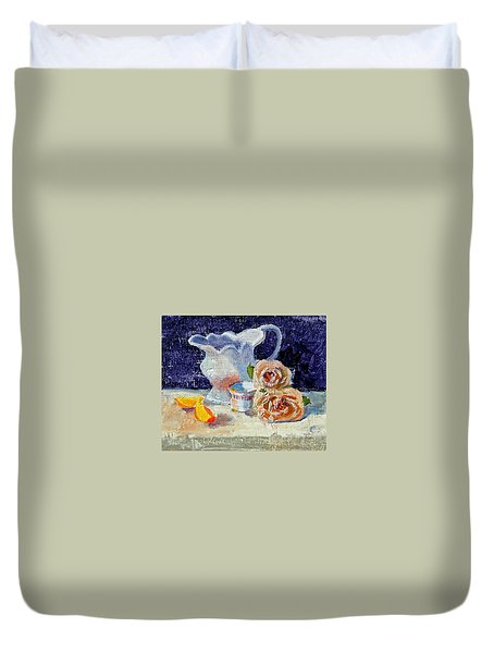 Pitcher Picture Duvet Cover by Laurie Paci