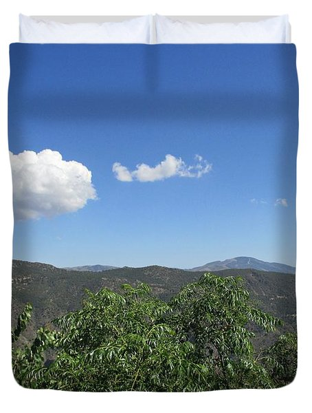 View From Pitres Duvet Cover