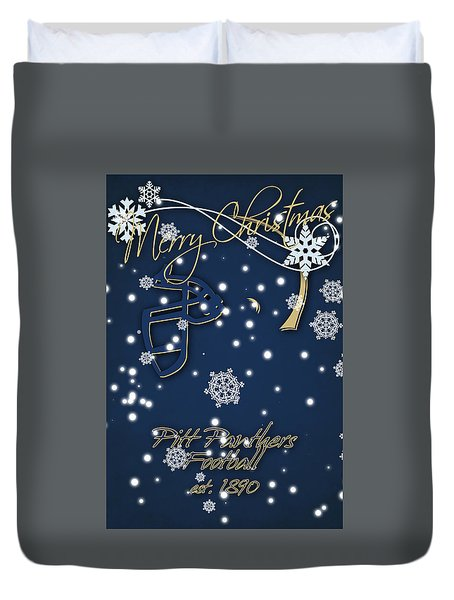 Pitt Panthers Christmas Cards Duvet Cover