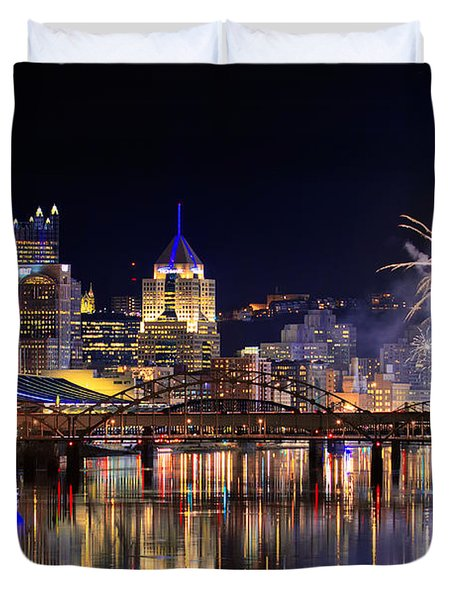 Pittsburgh 1  Duvet Cover by Emmanuel Panagiotakis