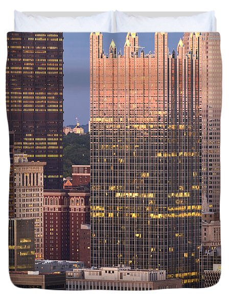 Pittsburgh 19  Duvet Cover by Emmanuel Panagiotakis