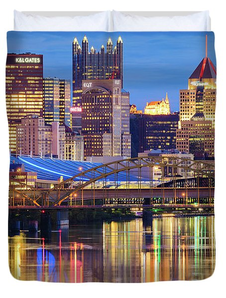 Pittsburgh 2 Duvet Cover by Emmanuel Panagiotakis
