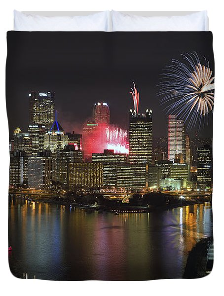 Pittsburgh 3 Duvet Cover by Emmanuel Panagiotakis