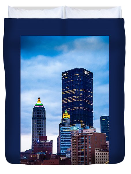 Pittsburgh - 7012 Duvet Cover by G L Sarti