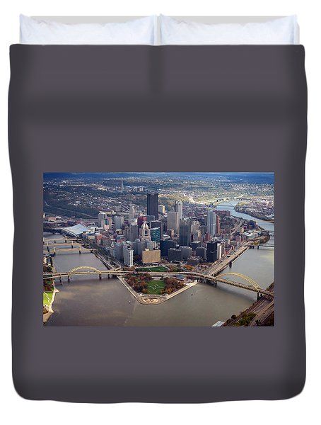 Pittsburgh 8 In Color  Duvet Cover
