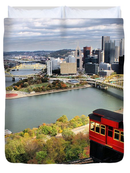 Pittsburgh From Incline Duvet Cover