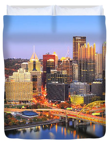 Pittsburgh Pano 22 Duvet Cover