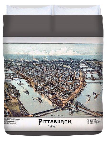 Pittsburgh Pennsylvania 1902 Duvet Cover