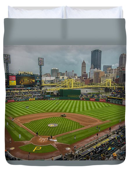 Pittsburgh Pirates Pnc Park 5569 Duvet Cover by David Haskett