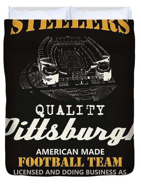 Pittsburgh Steelers Whiskey Duvet Cover