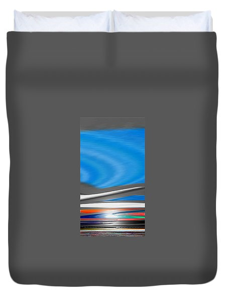 Duvet Cover featuring the digital art Pittura Digital by Sheila Mcdonald