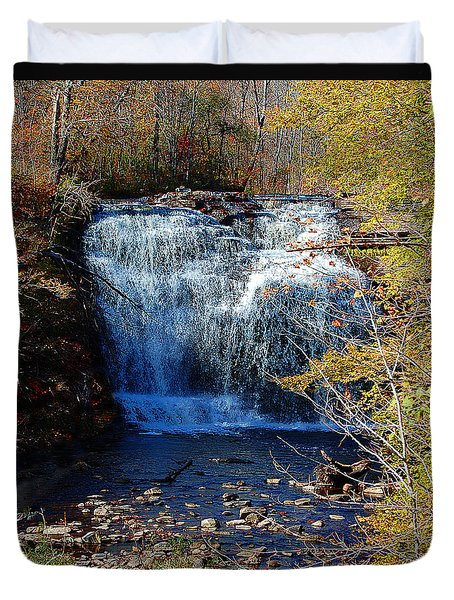 Pixley Falls State Park Duvet Cover by Diane E Berry