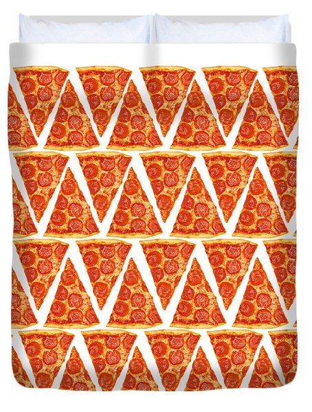 Pizza Slices Duvet Cover by Diane Diederich