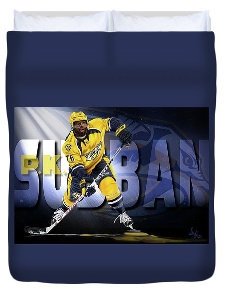Duvet Cover featuring the photograph Pk Subban by Don Olea