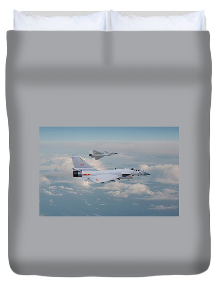 Duvet Cover featuring the photograph Plaaf J10 - Vigorous Dragon by Pat Speirs