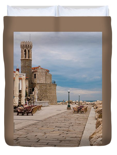 Place By The Sea Duvet Cover by Rae Tucker