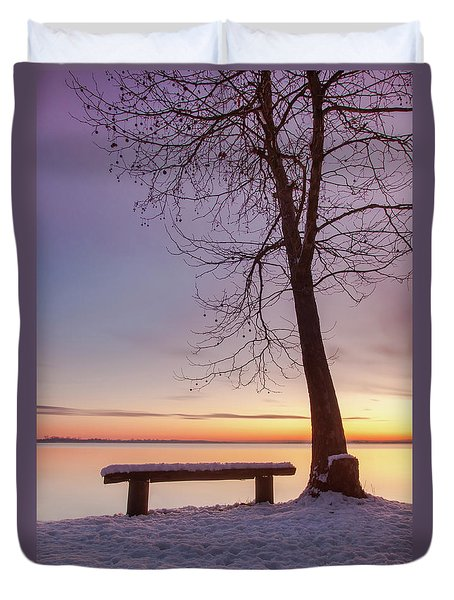 Duvet Cover featuring the photograph Place For Two by Davor Zerjav