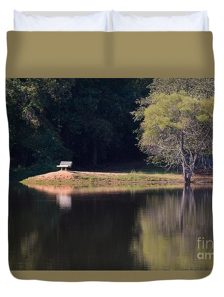 Place Of Reflection Duvet Cover by Kevin McCarthy