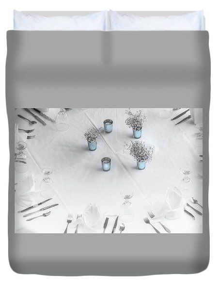 Place Settings Duvet Cover