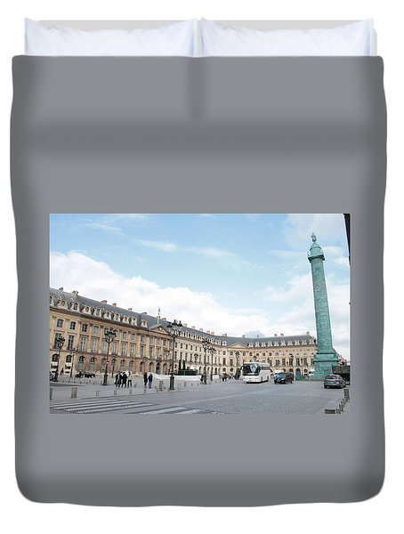 Duvet Cover featuring the photograph Place Vendome by Christopher Kirby