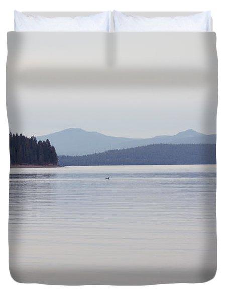 Placid Mountain Lake Duvet Cover