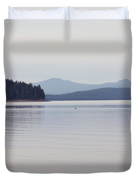 Placid Mountain Lake Duvet Cover